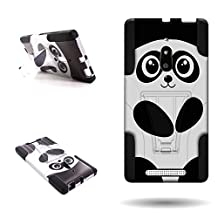 Lumia 830 Case, CoverON® for Nokia Lumia 830 Hybrid Kickstand Case [Dual Defense] Hard Heavy Duty Protective Shockproof Phone Cover - Cute Panda Design