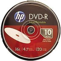 Hewlett Packard 4.7 GB Prntbl DVD-R 10Ct (DM16WJH010CB)