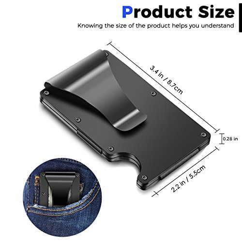 Minimalist-Carbon-Fibre-Slim-Wallet-Slim-Wallet-RFID-Blocking-Front-Pocket-WalletMinimalist-Wallet-for-Men-And-Women2018-New-Version