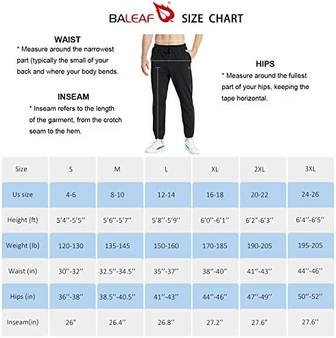 BALEAF Men's Cotton Joggers Sweatpants Lounge Running Casual Ankle Pants Pocketed Tapered Pajamas Pants