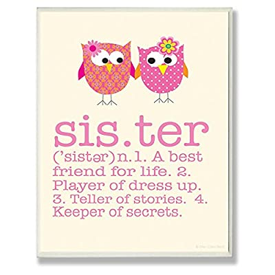 Stupell Decor Definition of Sister Wall Plaque