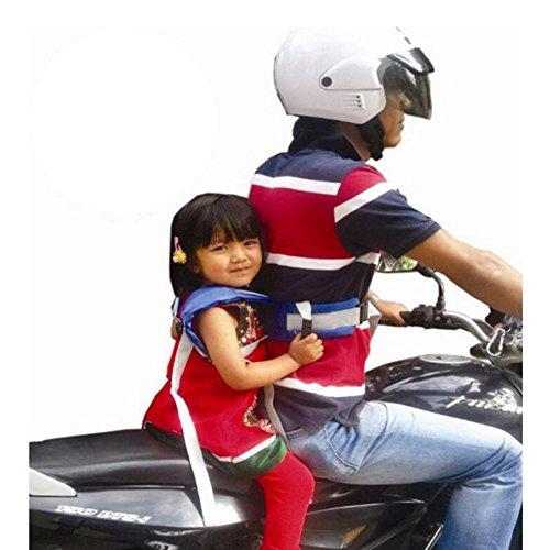 Highdas Kinder-Sicherheits-Sicherheitsgurt für Motorrad / Elektro-Auto / Fahrrad einstellbar (Schwarz)