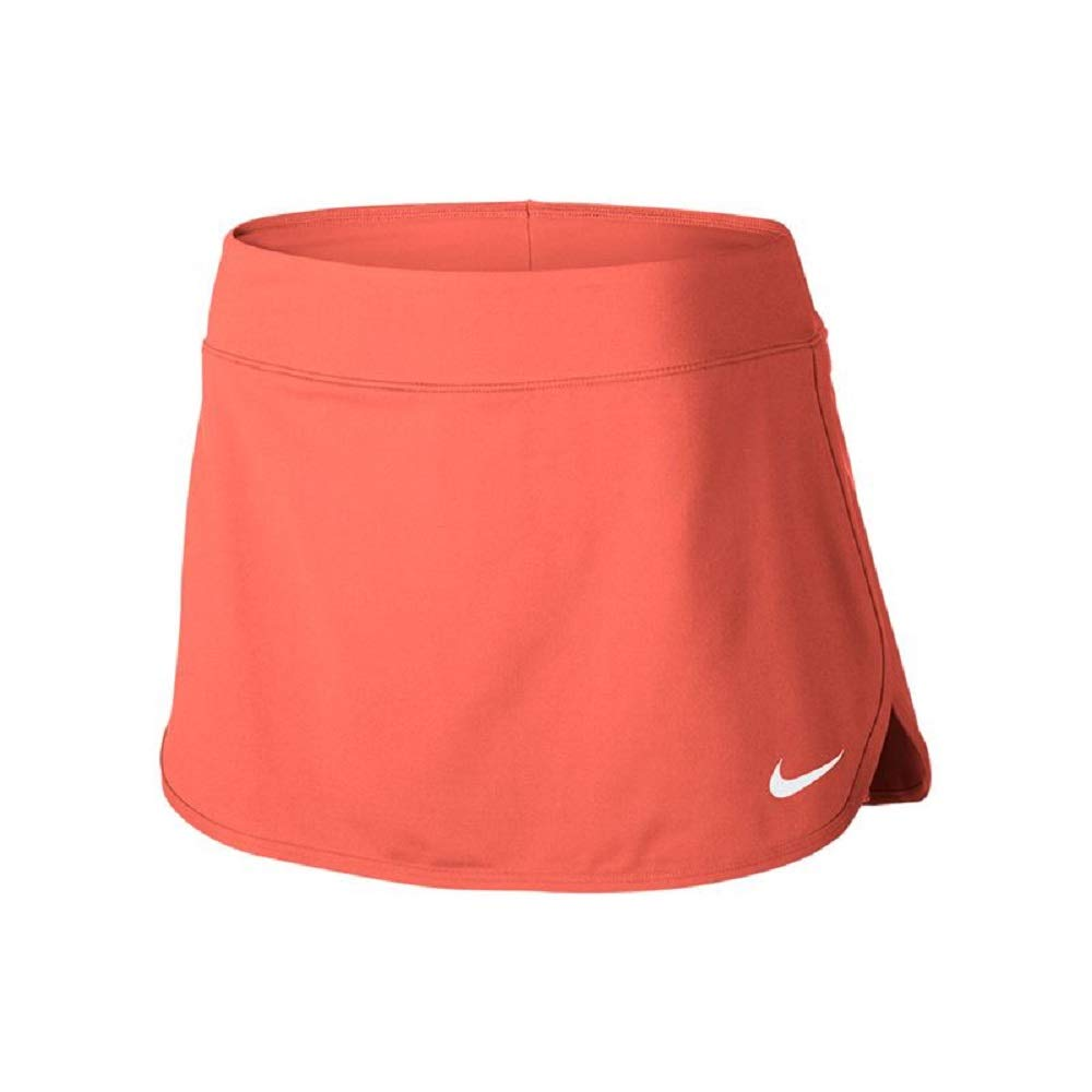W NKCT Pure Skirt Women's Tennis Skirt, LT Wild Mango/White, Small