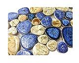 Glazed Blue Mosaic Ceramic Pebble Porcelain Tile Swimming Pool Bath Shower Wall Flooring Tile TSTGPT001 (4 x 6 Inches Sample)
