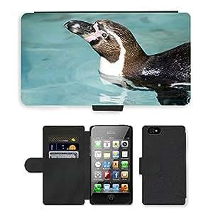 GoGoMobile Flip PU Leather Wallet Case with Credit Card Slots // M00118356 Humboldt Penguin Penguin Humboldt // Apple iPhone 4 4S 4G