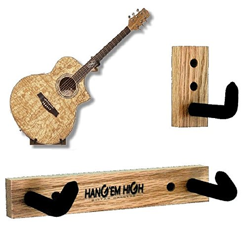 Angled Guitar Wall Hanger Display for Acoustic and Thick Body Guitars -Bare (no finish) H5-Bare-Std