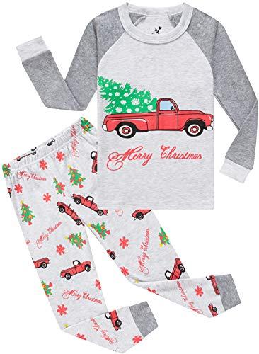 Cheap Kids Christmas Pajamas (Pajamas for Boys Girls Christmas Tree Cars Sleepwear Kids Baby Clothes Gift Pants Set Size)