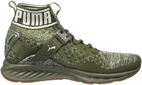Puma Ignite Evoknit Hypernature, Scarpe Sportive Outdoor Uomo Verde (Olive Night-birch- White)