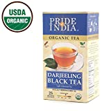 Pride Of India - Organic Darjeeling Black Tea, 25 Count (2-Pack)