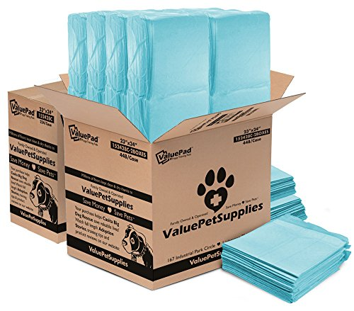 ValuePad Puppy Pads, Medium 23x24 Inch, 672 Count - Economy Training Pads for Dogs, Leak Resistant 5-Layer Design, Perfect for Puppies, Smaller Dogs & Even Litter Boxes