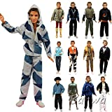 ken doll clothes and accessories - Barwa Lot 5 Sets Fashion Shirt Outfit Clothes with Trousers for Barbie's Boy Friend Ken Doll