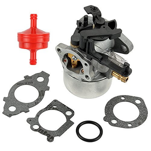 Butom 591137 Carburetor with Gasket Fuel Filter for Briggs & Stratton 111P02 111P05 111P07 114P02 114P05 114P07 11P902 11P905 11P907 121Q02 121Q07 121Q12 121Q42 121Q72 121S05 121S07 121S12 Engine (Briggs And Stratton Muffler Guard)