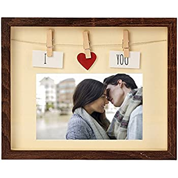 Amazoncom Picture Frames 4x6 With Mat Mdf Wood Glass Pane