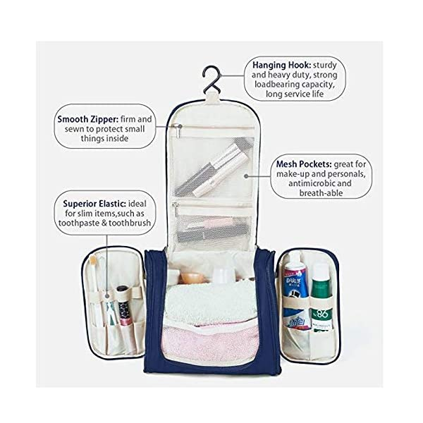 EAYIRA Fabric Toiletry Bag (Navy Blue_TSB-7_10)