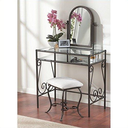 Linon Clarisse Metal Vanity Set