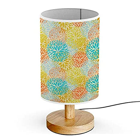 Amazon.com: ARTSYLAMP - Lámpara de mesa, base de madera ...