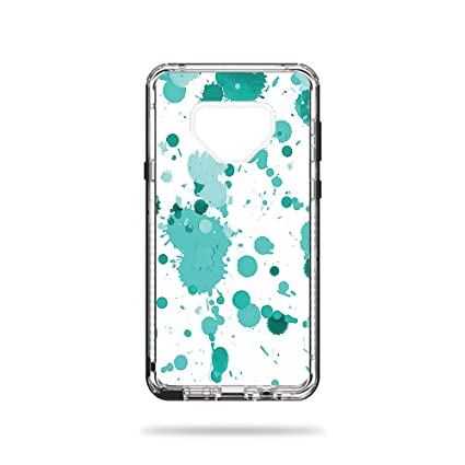 MightySkins Skin for LifeProof Next Galaxy Note 9 - Teal Splatter |  Protective, Durable, and Unique Vinyl Decal wrap Cover | Easy to Apply,  Remove,