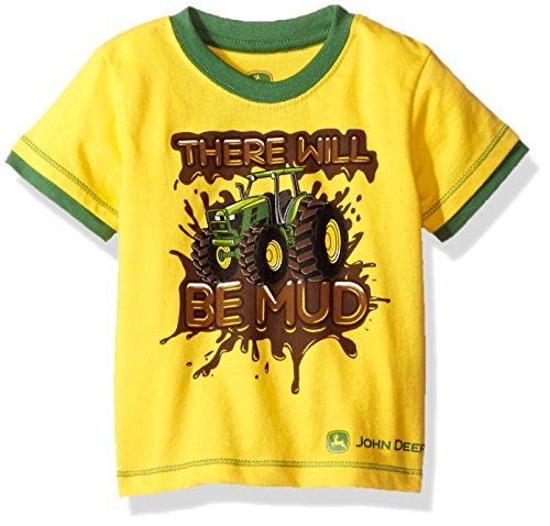 John Deere Baby Boys' Toddler Graphic Tee, Yellow/Green Print, ()