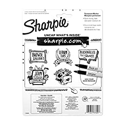 Sharpie Permanent Markers, Ultra Fine Point, Classic Colors, 8 Count
