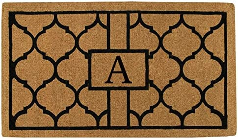 Home More 180082436A Pantera 2 X 3 Extra-Thick Monogrammed Doormat Letter A