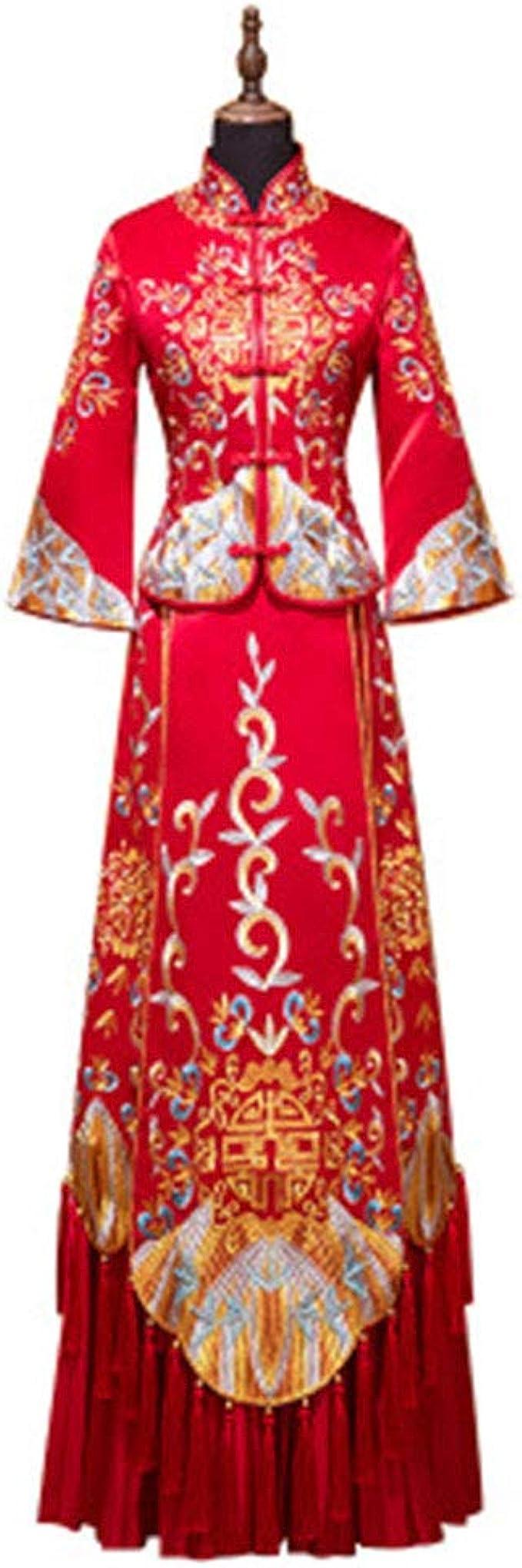 Chinese Wedding Toast Show Wo Suit Braut Brautkleid Hochzeitskleid