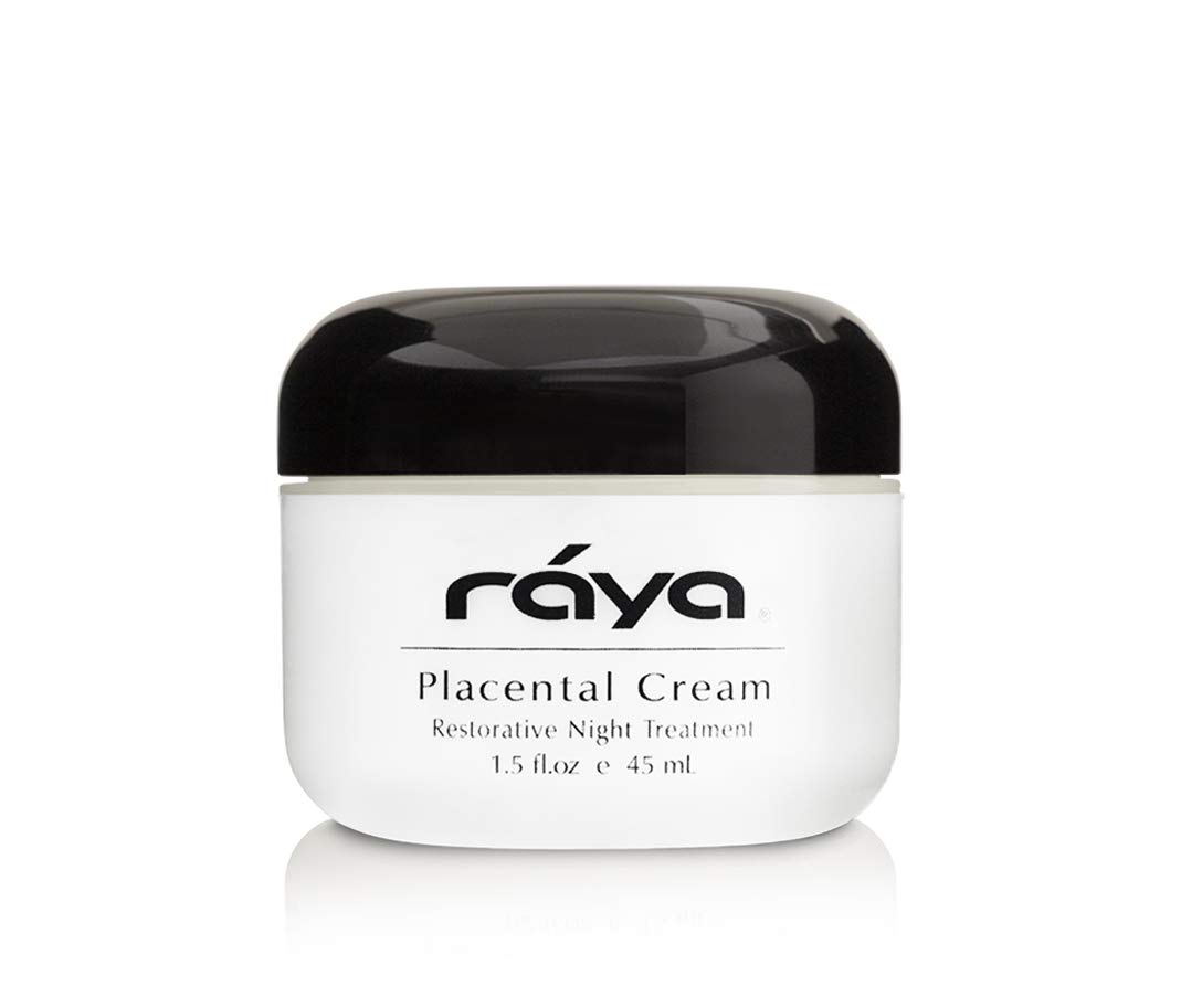 RAYA Placental Cream 402 Restorative, Anti-Aging, and Moisturizing Facial Night Cream for All Non-Oily Skin Calms Inflammation and Minimizes Pores