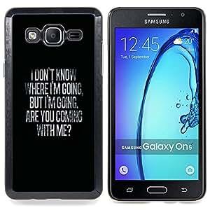 "Qstar Arte & diseño plástico duro Fundas Cover Cubre Hard Case Cover para Samsung Galaxy On5 O5 (Dónde ir Mi amor de San Valentín Negro"")"