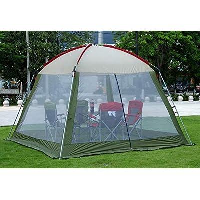 RT Large 5-Person Convertibel Green Family Bedroom Camping Tent: Garden & Outdoor
