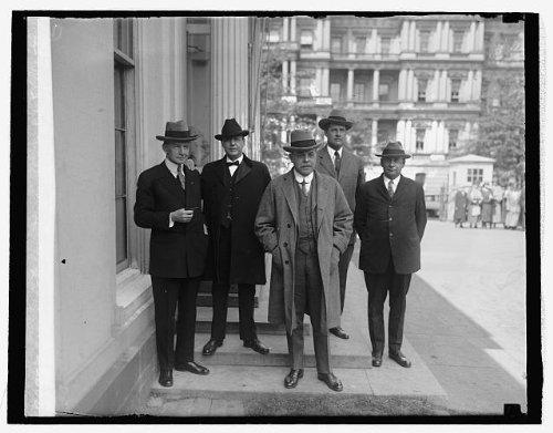 Photo: Arlington Mem. Bridge Com:,Dawes,Sen. Fernald,Longworth,Maj. Grant,Rep. Elliott (Mem Bridge)
