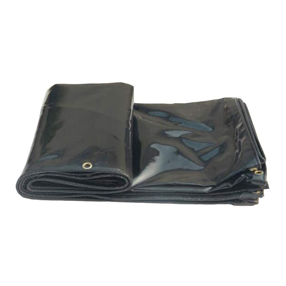 DALL ターポリン ヘビーデューティー タープ 防雨布 防水 オーニング シェード 耐候性 (色 : ブラック, サイズ さいず : 2.5×5m) 2.5×5m ブラック B07KWLWBS6