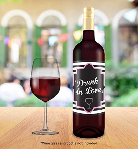 "Bachelorette Wedding Wine Bottle Labels 4"" X 5"" 6 Pack"