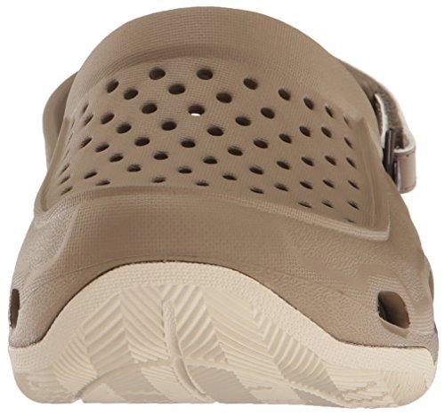 crocs Herren Swiftwater Deck Clog Men Braun (Khaki/stucco)