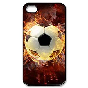 Iphone 4,4S 2D DIY Hard Back Durable Phone Case with Soccer Ball Image