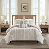 Harbor House Anslee Duvet Cover Set, Full/Queen, Pom PomTaupe