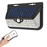 Solar Lights Outdoor 48 LED Solar Lights Wall Light Outdoor IP65 Waterproof Security Lighting Nightlight with Motion Sensor Detector and Remote Control For Sale