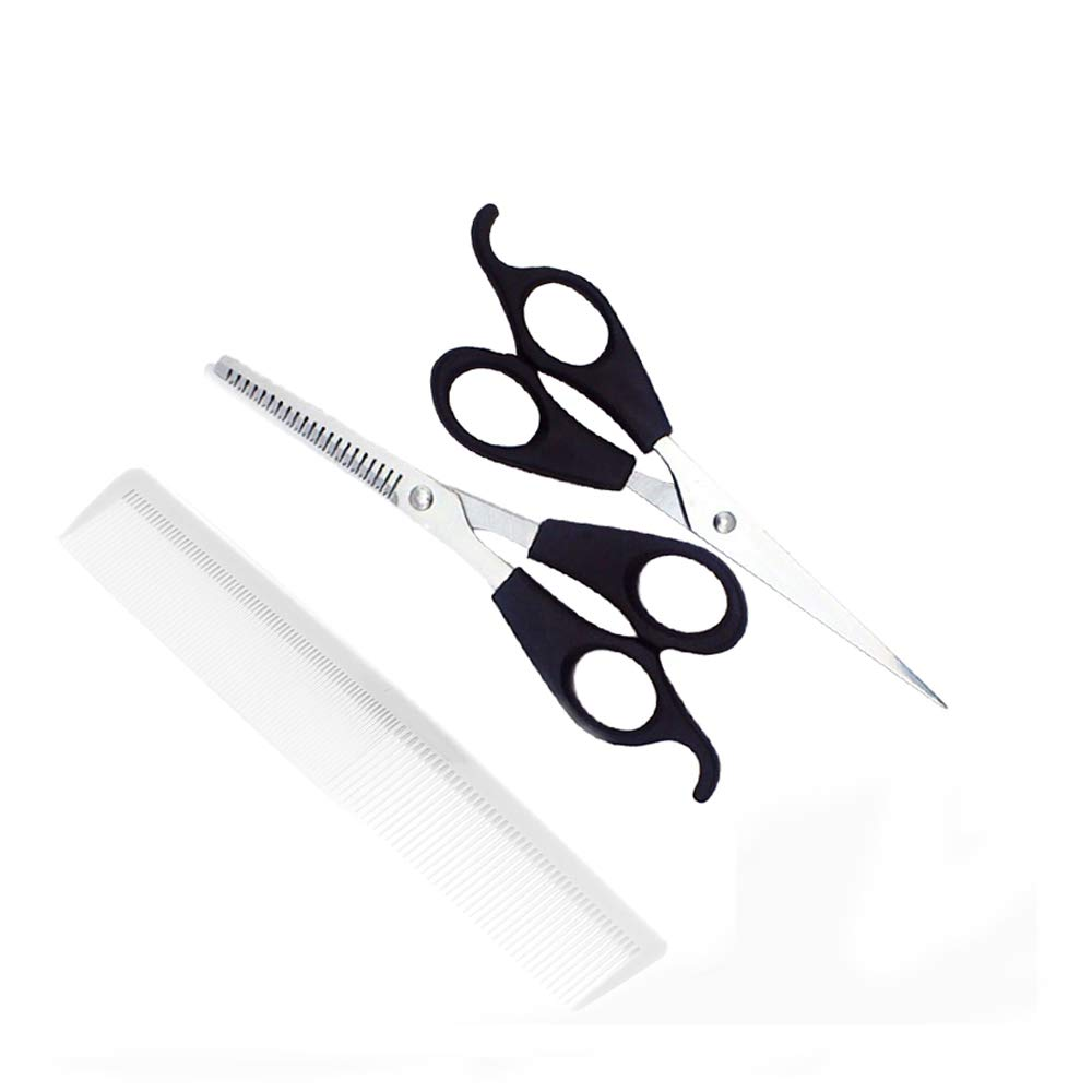 Zonebie Stainless Steel Family Barber Razor Solon Hairdressing Hair Cutting  Thinning Scissors Shears with White Comb Haircut Set