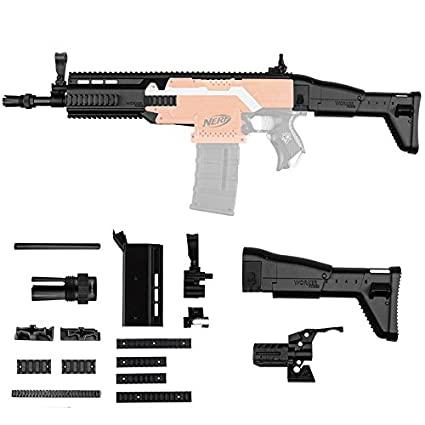 amazon com hitsan worker decoration set fn scar for nerf n stryfe