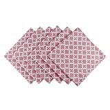 DII Lattice Cotton Napkin for Brunch, Weddings, Showers, Parties and Everyday Use - 20x 20'', Rose Pink and White, Set of 6