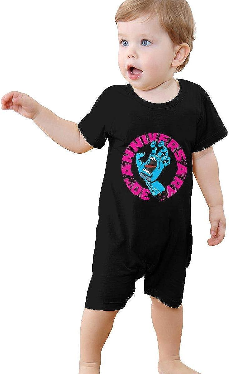 1-24 Months Baby Short Sleeve Creeper Jumpsuit Wild Kratts Logo Elegant and Simple Design Black