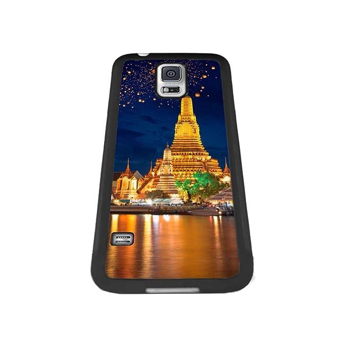 Amazon.com: Carcasa para Samsung Galaxy S5, diseño negro ...