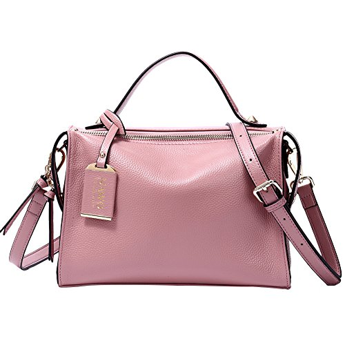 [With Deal] BIG SALE! NAWO Women Leather Designer Handbags Tote Purse Top-handle Shoulder Bags Cross-body Bag, 2-Taro pink