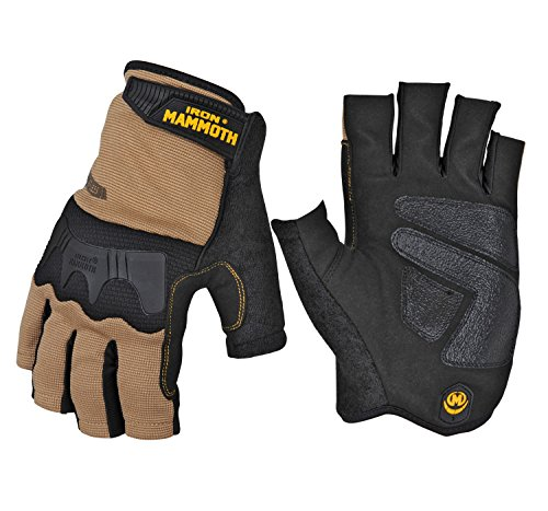 (IRON MAMMOTH 7650M Fingerless Ce certificated Work Glove, Medium )