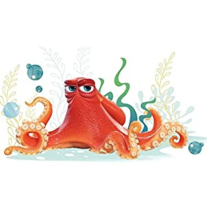 10 inch Hank Octopus Finding Dory Nemo 2 Movie Removable Peel Self Stick Adhesive Vinyl Decorative Wall Decal Sticker Art Kids Room Home Decor Boys Children Nursery Baby 10×6 inches