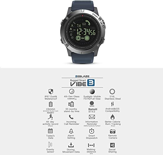 Zeblaze VIBE3 Smart Watch Bluetooth Smart Bracelet podómetro para ...