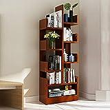 Shelves MEIDUO 8-Shelf Tree Bookshelf, Modern Bookcase Book Rack Display Storage Organizer for CDs Records Books (Color : Teak Color)