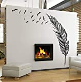 Feather Wall Sticker Removable Waterproof Wall Decals Creative Home Decoration