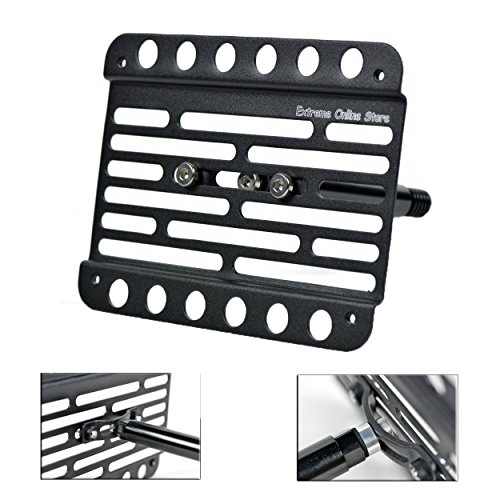 Extreme Online Store for 2012-2015 Audi A7 4G Front Bumper Tow Hook License Plate Relocator Bracket ()