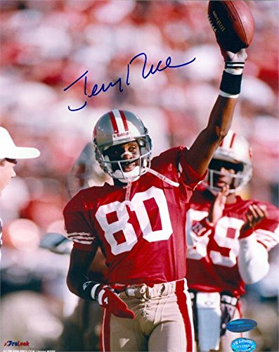 (Jerry Rice autographed 8x10 Photo (San Francisco 49ers 80 Hall of Fame) Image #4 Steiner Sports Authentication Hologram )