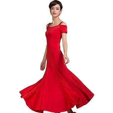 0baaaa4183c1 Amazon.com: New Latin Ballroom Competition Dance Dress Modern Salsa Waltz  Standard Long Dress # W004: Clothing