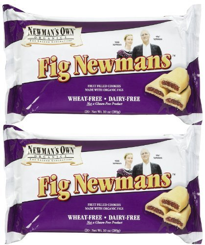 Newmans Own Organic Wheat Free Fig Cookie Bar, 10 oz, 2 pk